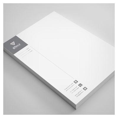 سربرگ لایه باز تکرنگ (کلاسیک با رنگ خاکستری و سفید) ارائه شده با پسوند psd لایه باز