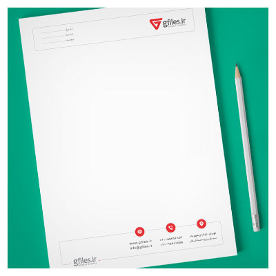 دانلود سربرگ لایه باز با تم رنگی قرمز ، ارائه شده با فرمت psd (قابل چاپ در ابعاد A4 و A5)
