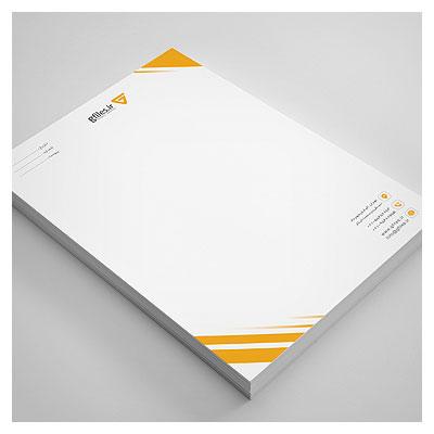 فایل لایه باز سربرگ با تم نارنجی و المان های حاشیه ای (ارائه شده با فرمت psd)