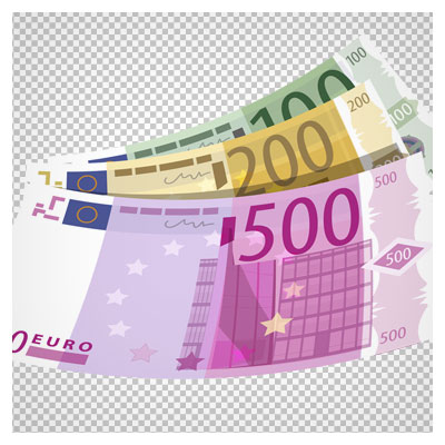 دانلود تصویر با کیفیت png یورو (500 یورویی) بصورت دوربری شده