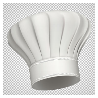 دانلود تصویر دوربری شده کلاه سرآشپز با کیفیت بالا و فرمت png