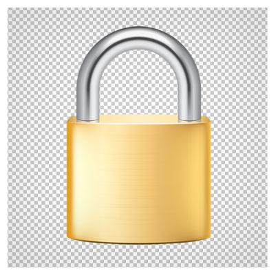 دانلود فایل دوربری شده و ترانسپرنت قفل با کیفیت بالا و فرمت png