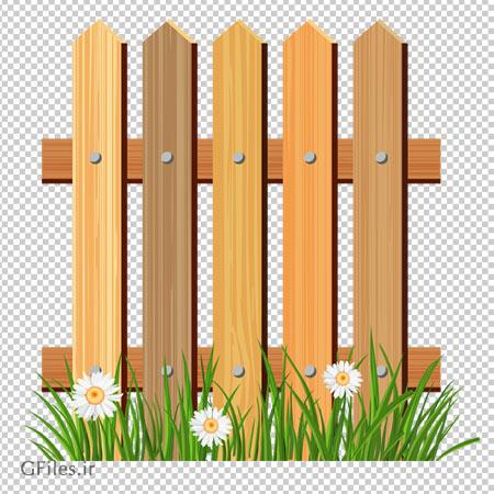 تصویر دوربری شده نرده های چوبی کارتونی با کیفیت بالا و فرمت png