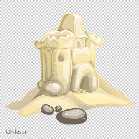 فایل دوربری شده کارتونی قلعه شنی با کیفیت بالا ، مناسب برای طراحی صحنه های بازی (png)