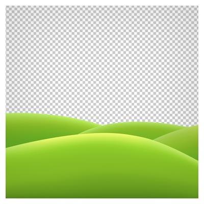 دانلود فایل تپه های چمن کارتونی بدون بکگرند با پسوند png