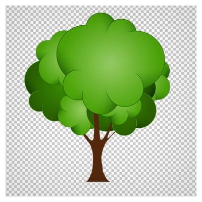 دانلود فایل دوربری شده و فاقد پس زمینه درخت سبز کارتونی با پسوند png