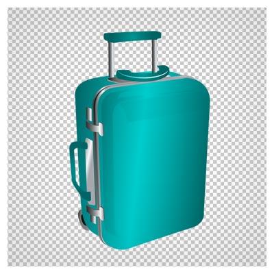 دانلود فایل ترانسپرنت و دوربری شده چمدان مسافرتی آبی کارتونی  با پسوند png