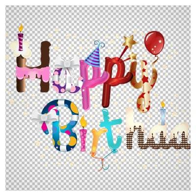 دانلود لوگو با طرح Happy Birthday بصورت گرافیکی