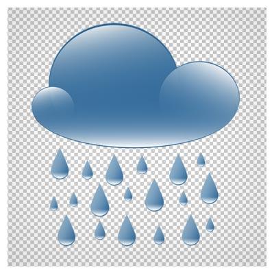 دانلود فایل ترانسپرنت و دوربری شده ابر و باران کارتونی با پسوند png