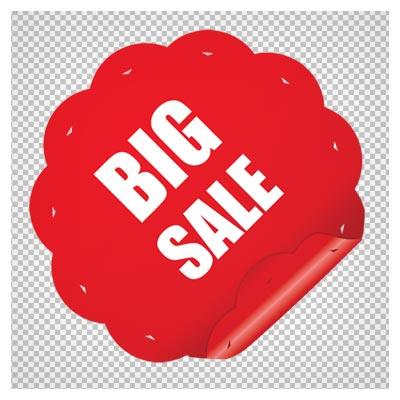 دانلود فایل ترانسپرنت و دوربری شده لیبل خرید بزرگ (Big Sell) کارتونی با پسوند png