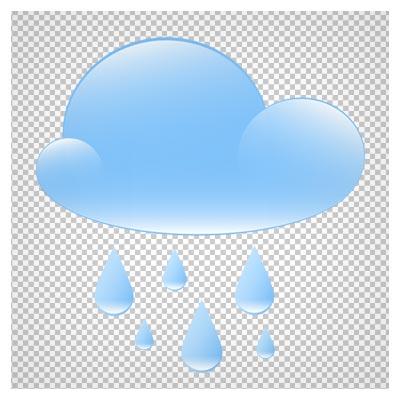 دانلود تصویر دوربری شده ابر آبی و نم نم باران کارتونی به صورت فایل png با کیفیت بالا