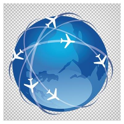 دانلود فایل ترانسپرنت و دوربری شده خطوط هوایی ( هواپیمایی) با پسوند png