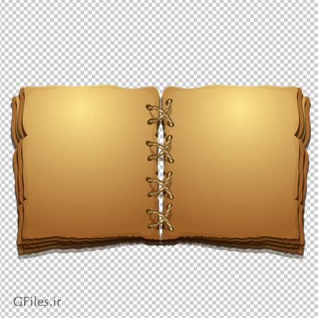 دانلود فایل ترانسپرنت و دوربری شده کتاب باستانی (تاریخی و قدیمی) کارتونی با فرمت png