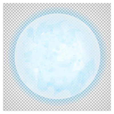دانلود فایل ترانسپرنت و دوربری شده ماه کامل آبی کارتونی با فرمت png