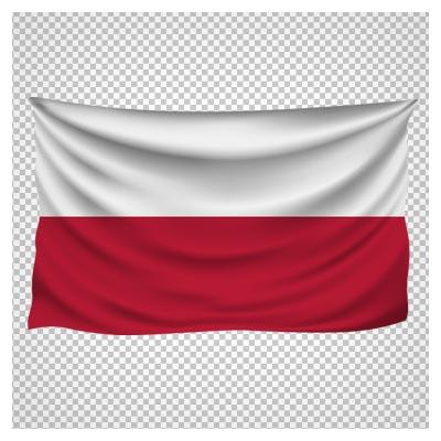 دانلود فایل بدون بکگراند و دوربری شده پرچم لهستان کارتونی با فرمت png