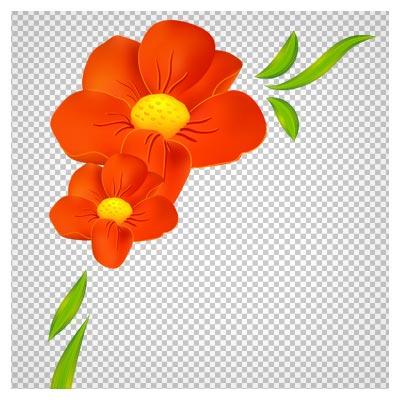 دانلود فایل ترانسپرنت و دوربری شده گل قرمز با فرمت png
