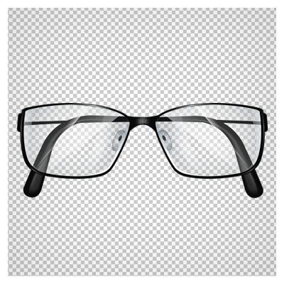 دانلود فایل ترانسپرنت و دوربری شده عینک مطالعه با فریم مشکی با فرمت png