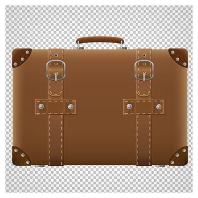 دانلود فایل ترانسپرنت و فاقد پس زمینه کیف دستی چرمی قهوه ای با فرمت png
