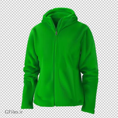 دانلود فایل ترانسپرنت و بدون پس زمینه سویشرت سبز کلاهدار کارتونی با فرمت png