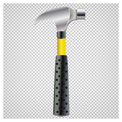 دانلود تصویر دوربری شده و فاقد بکگرند چکش میخکش فلزی به صورت فایل png با کیفیت بالا