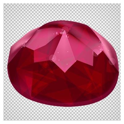 دانلود فایل ترانسپرنت و دوربری شده الماس شفاف قرمز با فرمت png