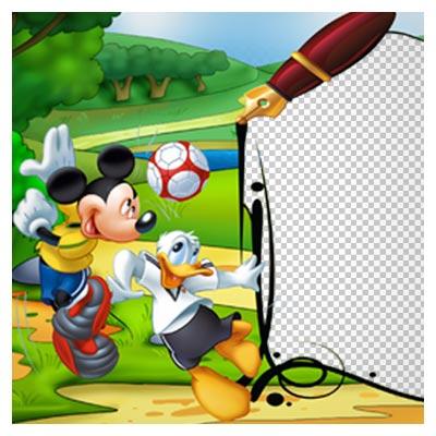 دانلود تصویر ترانسپرنت و بدون پس زمینه فریم و قاب کارتونی میکی موس با پسوند png