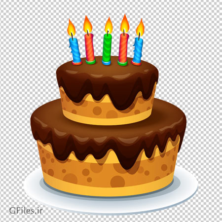 دانلود فایل دوربری شده و بدون پس زمینه کیک تولد شکلاتی کارتونی با پسوند png