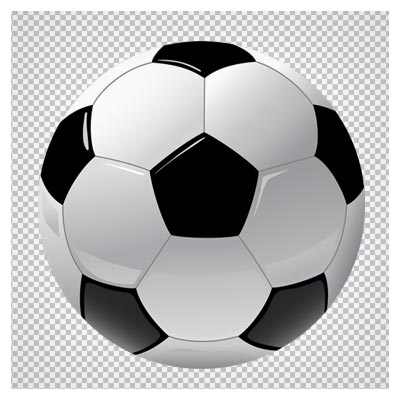 دانلود فایل ترانسپرنت و دوربری شده توپ فوتبال چهل تکه دو رنگ با فرمت png