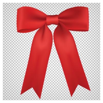 دانلود فایل ترانسپرنت و دوربری شده پاپیون روبان دار قرمز با فرمت png