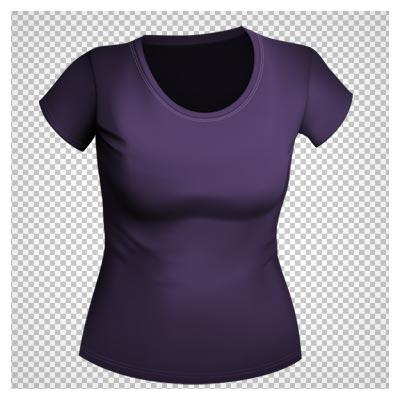 دانلود فایل ترانسپرنت و بدون پس زمینه تی شرت بنفش زنانه با فرمت png