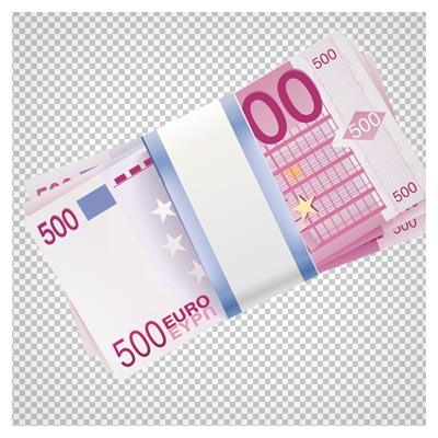 دانلود فایل ترانسپرنت و دوربری شده دسته 500 یورویی کارتونی با فرمت png
