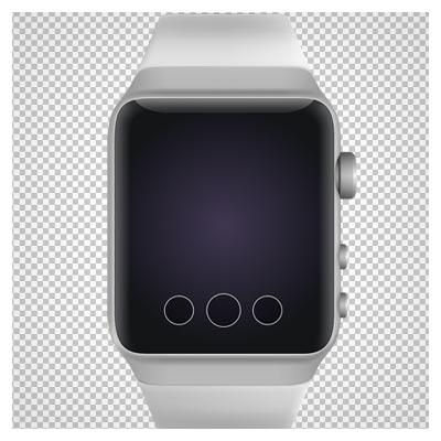دانلود فایل دوربری شده و بدون پس زمینه ساعت مچی دیجیتال سفید کارتونی با پسوند png