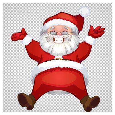دانلود فایل دوربری شده و بدون پس زمینه بابانوئل کوتوله خندان کارتونی با پسوند png