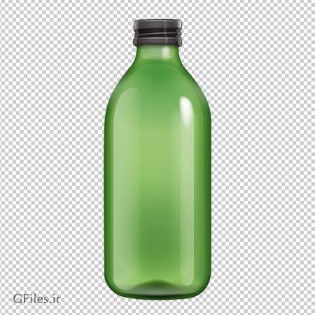 دانلود فایل دوربری شده و بدون پس زمینه بطری شیشه ای سبز کارتونی با پسوند png