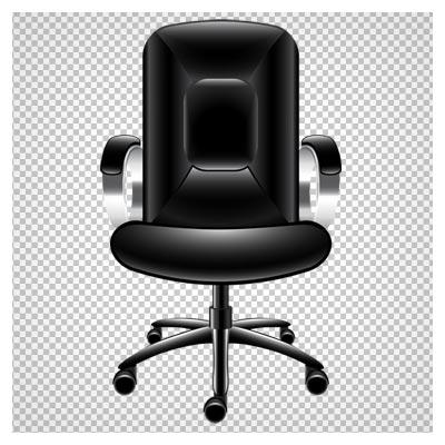دانلود فایل دوربری شده و بدون پس زمینه صندلی چرمی پشت میزی اداری با فرمت png