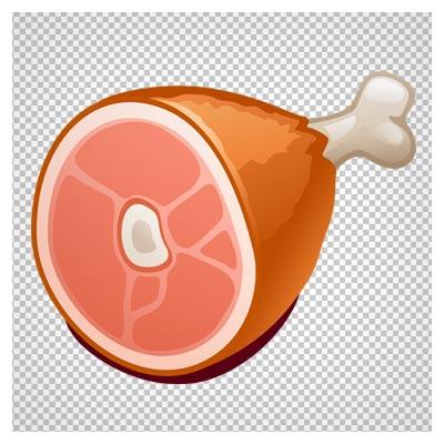 دانلود فایل ترانسپرنت و فاقد بکگرند گوشت و استخوان ران (راسته) کارتونی با فرمت png