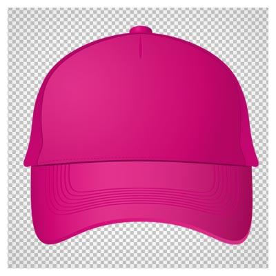 دانلود تصویر دوربری شده و فاقد بکگرند کلاه نقاب دار صورتی کارتونی به صورت فایل png با کیفیت بالا
