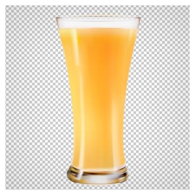 دانلود فایل دوربری شده و بدون پس زمینه لیوان پر از آبمیوه نارنجی با پسوند png
