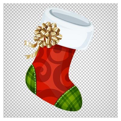 دانلود فایل دوربری شده و بدون پس زمینه جوراب زمستانی کریسمس کارتونی با پسوند png