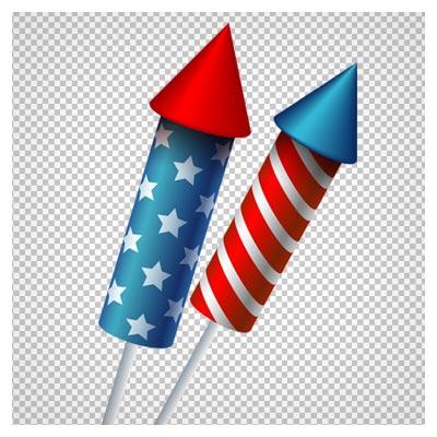 دانلود تصویر دوربری شده و فاقد بکگرند فشفشه های رنگی آتش بازی کارتونی به صورت فایل png با کیفیت بالا