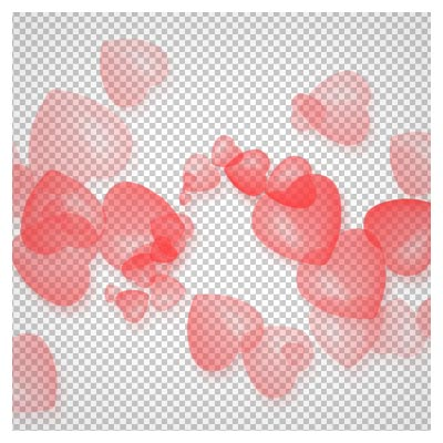 دانلود فایل دوربری شده و بدون پس زمینه قلب های حبابی قرمز صورتی کارتونی با پسوند png