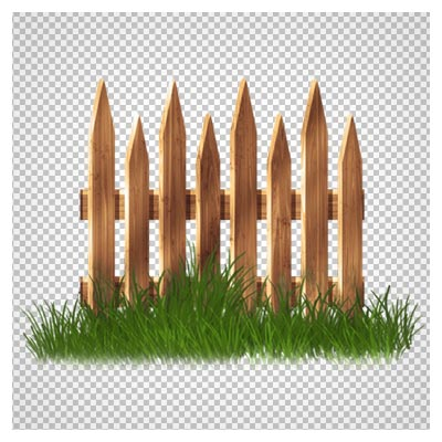 دانلود فایل دوربری شده و بدون پس زمینه حصار و نرده های چوبی و باغچه کارتونی با پسوند png