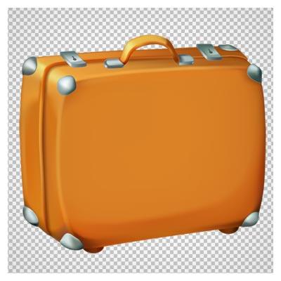 دانلود فایل فاقد پس زمینه و دوربری شده چمدان چرمی قدیمی با پسوند png