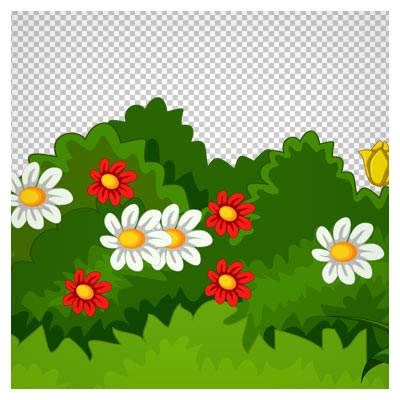 دانلود فایل فاقد بکگرند و دوربری شده باغچه کوچک پر گل با پسوند png