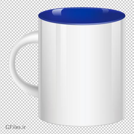 دانلود فایل ترانسپرنت لیوان دسته دار سفالی و سرامیکی سفید با فرمت png