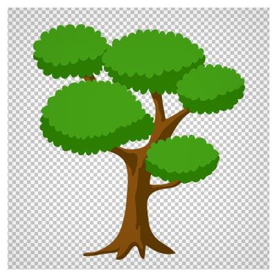 فایل دوربری شده درخت جنگلی سبز بلند با فرمت png