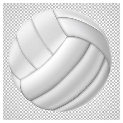 دانلود فایل بدون پس زمینه توپ والیبال سفید با فرمت png