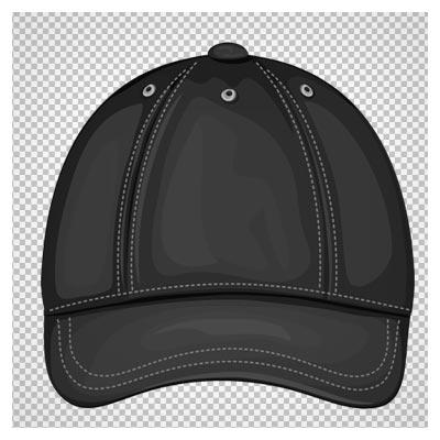 فایل دوربری شده کلاه نقاب دار دوردوخت مشکی با فرمت png