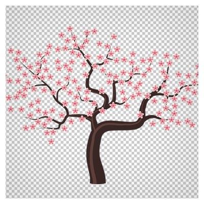 دانلود فایل درخته بهاری شکوفه دار به صورت بدون پس زمینه و دوربری شده