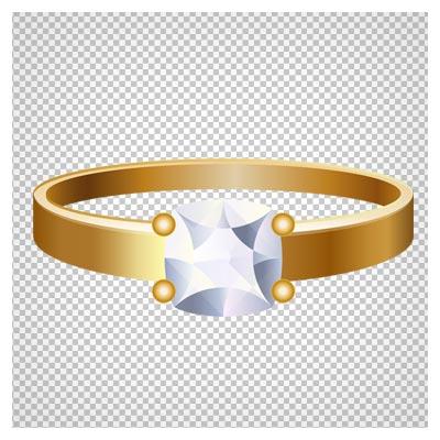 دانلود تصویر دوربری شده و فاقد بکگرند حلقه تک نگین کارتونی به صورت فایل png با کیفیت بالا.